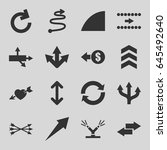arrows icons set. set of 16... | Shutterstock .eps vector #645492640
