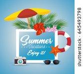 enjoy summer design | Shutterstock .eps vector #645493798
