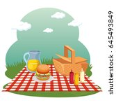 picnic time design | Shutterstock .eps vector #645493849