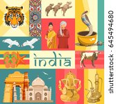 india vector illustration.... | Shutterstock .eps vector #645494680