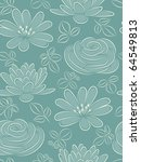 Blue Flower Seamless Pattern....