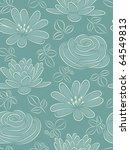 Blue Flower Seamless Pattern....