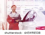 portrait of smiling male... | Shutterstock . vector #645498538