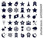 star icons set. set of 36 star... | Shutterstock .eps vector #645500449