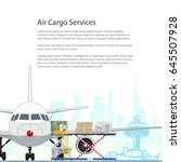flyer air cargo services and... | Shutterstock .eps vector #645507928