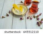 safron flavoured sugar candy... | Shutterstock . vector #645512110