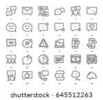 vector set of message bubbles... | Shutterstock .eps vector #645512263