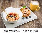 photo of healthy breakfast on...   Shutterstock . vector #645514390