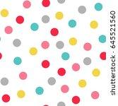 seamless polka dot pattern.... | Shutterstock .eps vector #645521560