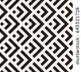 stylish lines maze lattice.... | Shutterstock .eps vector #645521728