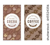 coffee and cocoa vertical... | Shutterstock .eps vector #645524356