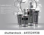 different types of cosmetics... | Shutterstock . vector #645524938