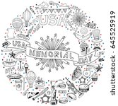 memorial day background....   Shutterstock .eps vector #645525919