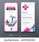 dl flyer design. fashion... | Shutterstock .eps vector #645526204