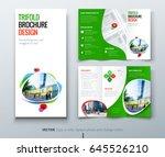 business tri fold brochure... | Shutterstock .eps vector #645526210
