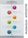 infographic business vertical...   Shutterstock .eps vector #645533740