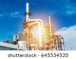 oil and gas industry refinery... | Shutterstock . vector #645534520