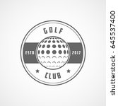 golf club emblem line icon on... | Shutterstock .eps vector #645537400