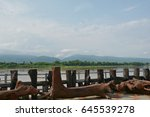 the fence  the backdrop  river... | Shutterstock . vector #645539278