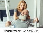 casual middle aged couple... | Shutterstock . vector #645542044