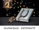 ramadan celebration symbols and ... | Shutterstock . vector #645546670