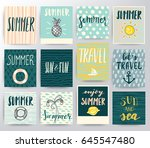 abstract vector modern tropical ... | Shutterstock .eps vector #645547480