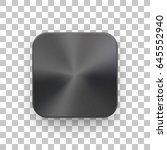 metal black blank app icon ...