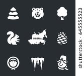 siberia icons. | Shutterstock . vector #645555523