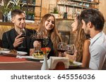 party after work. friends... | Shutterstock . vector #645556036
