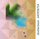arrow vector texture | Shutterstock .eps vector #645556714
