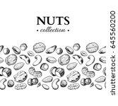 nuts vector vintage... | Shutterstock .eps vector #645560200