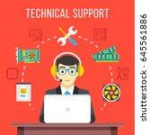 technical support. technical...   Shutterstock .eps vector #645561886