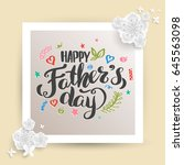father's day card. vector... | Shutterstock .eps vector #645563098