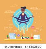 african american businessman... | Shutterstock .eps vector #645563530