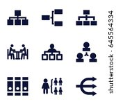 organization icons set. set of... | Shutterstock .eps vector #645564334