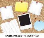 cork bulletin board | Shutterstock .eps vector #64556710