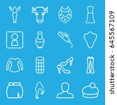 female icons set. set of 16... | Shutterstock .eps vector #645567109
