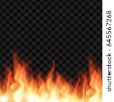 burning realistic fire flames. ... | Shutterstock . vector #645567268