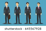 asian business man cartoon... | Shutterstock .eps vector #645567928