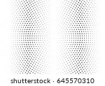 abstract halftone dotted... | Shutterstock .eps vector #645570310