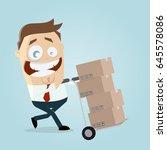 happy warehouseman with...   Shutterstock .eps vector #645578086