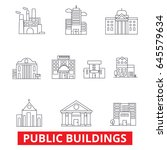 public institutional buildings  ... | Shutterstock .eps vector #645579634