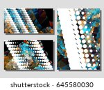 low poly mosaic background set. ... | Shutterstock .eps vector #645580030