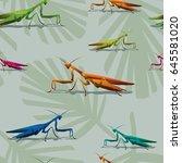 Mantis Seamless Vector...