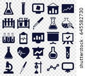 analysis icons set. set of 25... | Shutterstock .eps vector #645582730