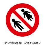 forbidden signal man and woman | Shutterstock .eps vector #645593350