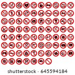 set 77 forbidden signal | Shutterstock .eps vector #645594184