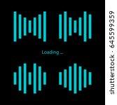 set loading icons. black... | Shutterstock .eps vector #645599359