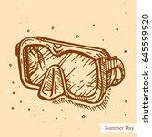vector linear illustration of... | Shutterstock .eps vector #645599920