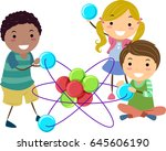 illustration of stickman kids... | Shutterstock .eps vector #645606190